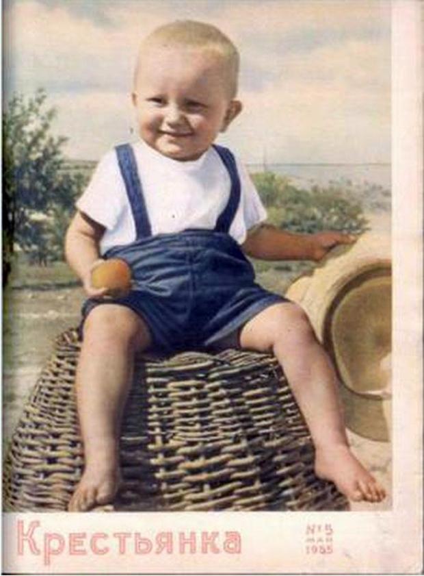 Обложка журнала Крестьянка 1950 год