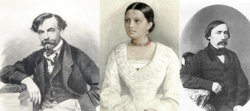 Иван Панаев, Авдотья Панаева и Николай Некрасов
