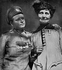 Мария Бочкарева со своими солдатами
