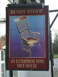 Вывеска стул Басби