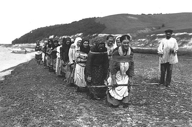 Женщины-бурлачки на р. Суре